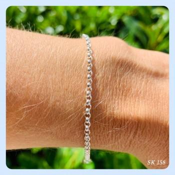 Silver 925 bracelet 2.2 mm,...