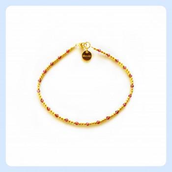Obsidian bracelet, Garnet...