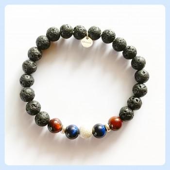 Lava stone bracelet, unisex...