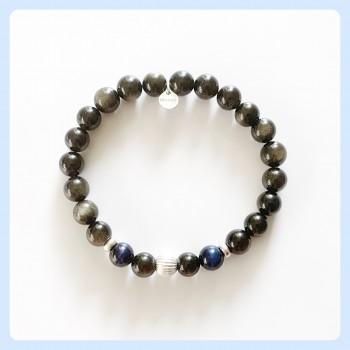 Golden obsidian bracelet,...