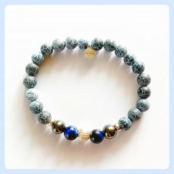Agate bracelet, sterling...