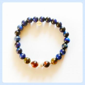 Tiger eye blue bracelet,...