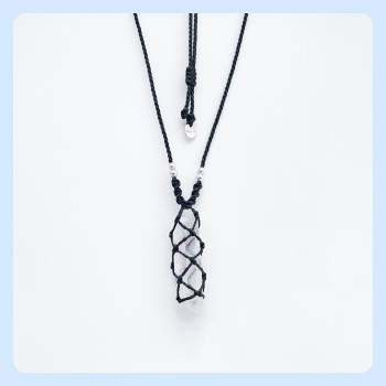 Rock crystal chain unisex,...