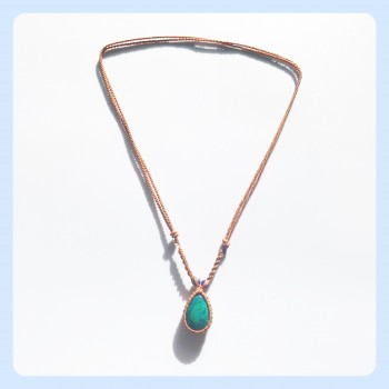 Chrysocolla stone necklace...