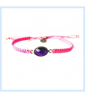 Macrame / amethyst bracelet