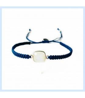 Macrame / moonstone bracelet