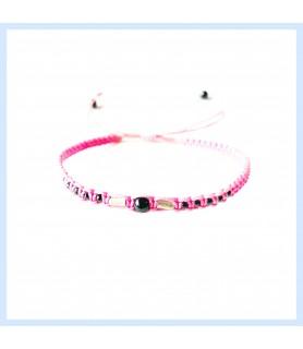 Macrame / hematite bracelet