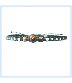 Macrame / tiger eye bracelet