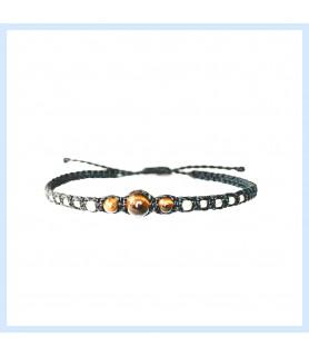 macrame / tiger eye bracelet