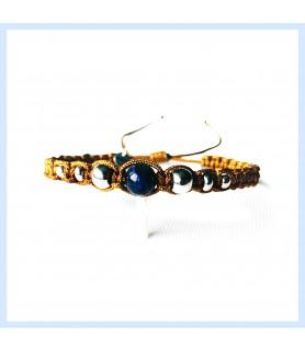 Macrame and tiger eye bracelet