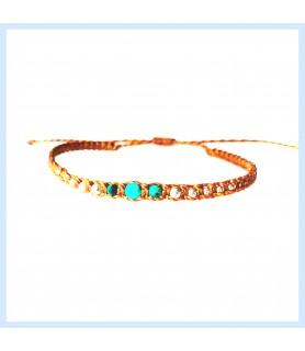 Malachite bracelet, macrame...