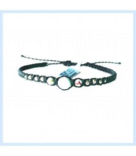 Macrame / Larimar bracelet