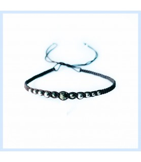 Macrame / Pyrite bracelet