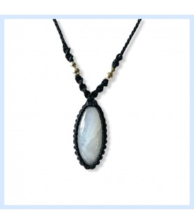 Rainbow moonstone pendant,...