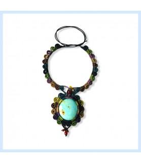 Macrame necklace / Amazonite