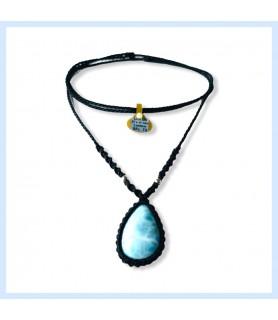 Larimar / macrame necklace
