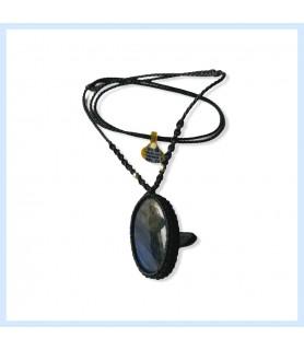 Labradorite / macrame necklace