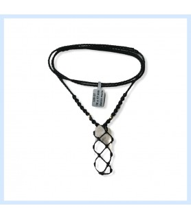 Macrame necklace with rock...