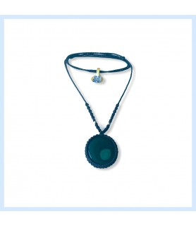 Macrame necklace with...