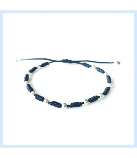 Silver and nylon bracelet...