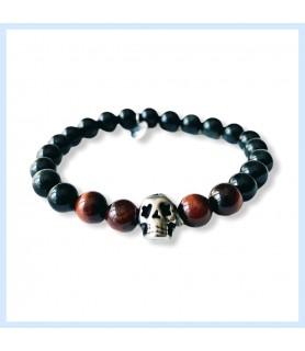 Rainbow obsidian bracelet,...
