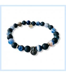 Owl bracelet, sodalite and...